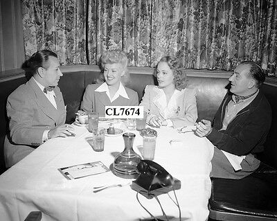 George Raft, Betty Grable, Virginia Gilmore, Fritz Lang at the Brown Derby Photo