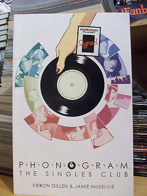 Phonogram Vol 2 The Singles Club Graphic Novel Image Signed by Gillen & McKelvie