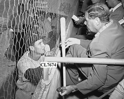 Ted Williams with Babe Ruth at the Red Sox Baseball Game in St. Petersburg Photo