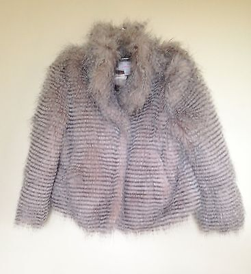 Girls Next Faux Fur Jacket Age 7 to 8