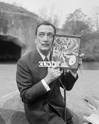Salvador Dali Gave to the Press Convened at Vincennes Zoo Photo