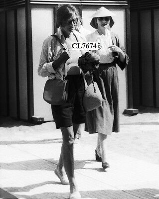Greta Garbo in Shorts and Sun Glasses Walks from a Cabin at Venice Lido Photo