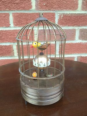 Automaton Birds In A Cage Clock. Birds Move. Open To Offers.