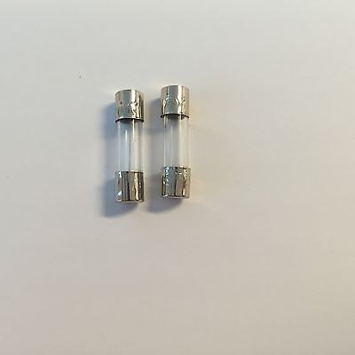 1 Amp Quick Blow Protection Fuse Replacements 250V Capacity (5x20mm) 2x fuses