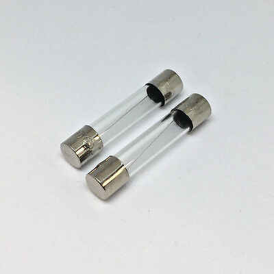 2 Amp Quick Blow Protection Fuse Replacements 250V Capacity (6x30mm) 2x fuses