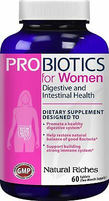 Probiotics for Women supplement from Natural Riches 60 Tablets - Immune Syste...