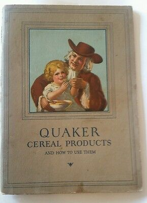 Antique Quaker Cereal Advertising Pamphlet with Recipes dated 1927