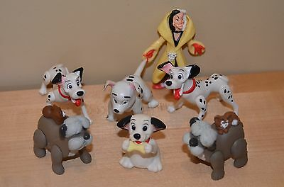 LOT OF 7 Disney 101 Dalmations Figures Toys Cake Toppers Party Favor Burger King