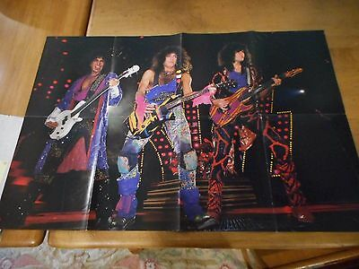Vintage Double Sided KISS Poster Makeup & Unmasked 21x31 #8