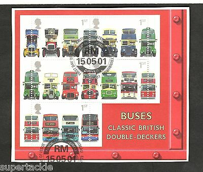 2001 Great Britain SC #1976a Classic British Double Decker Buses Θ used stamps