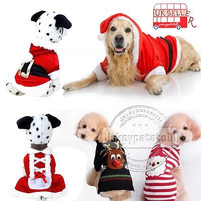 Pet Dog Warm Jumper Sweater Xmas Clothing Puppy Cat Knit Costume Coat Christmas