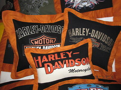 Tee-Shirt Memory Quilts-Attn: Harley Davidson Owners--You choose fabric colors