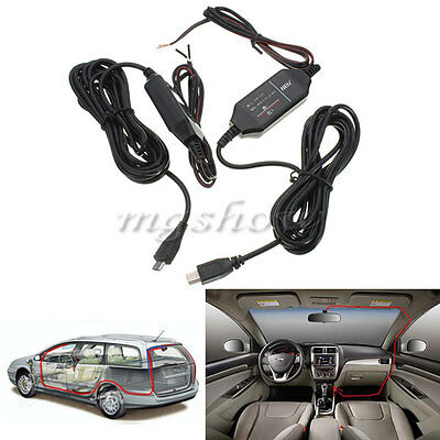 12V to 5V Hard Wire Power Adapter Converter Cable Jack For Car DVR Dash Camera