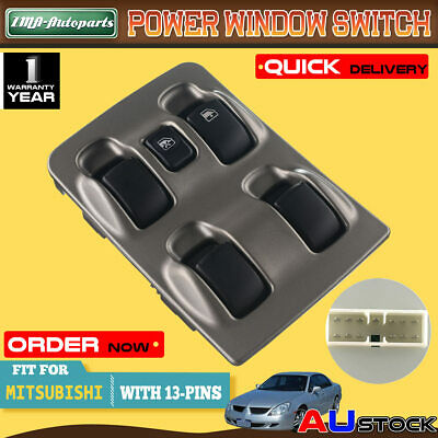 For Mitsubishi Magna TL & TW 03-05 V6 3.5L Main Master Electric Window Switch