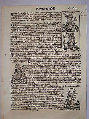 1493 Nuremberg Chronicle, Hartman Schedels, Single leaf incunabula CCXIIII
