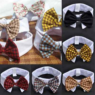 Fun Adorable Dog Cat Pet Puppy Kitten Toy Bow Tie Necktie Collar Clothes Gift FT