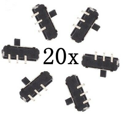 20pcs MSS12D01 MINI SMD Slide Switch 1P2T 3-Pin for DIY Electronic Accessory