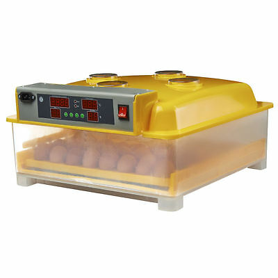Egg Incubator 48 Fully Automatic Digital LED Turning Chicken Duck B Eggs Poultry
