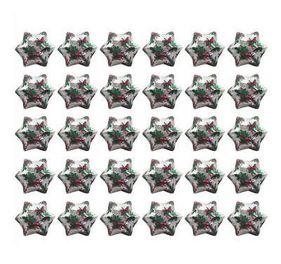 400 Cadbury Chocolate Christmas Stars Silver Holly Gold Red Green-Gifts Parties