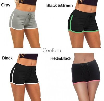 Women Cotton Sports Casual Beach Running Slim Yoga Ladies Shorts Hot Pants CO99