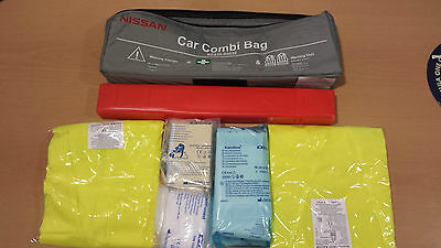 Car Warning Triangle With First Aid Kit  And 2 Hi Vis Jackets
