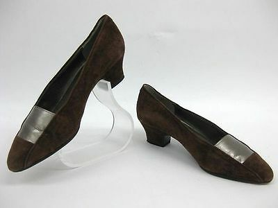 Auth Christian Dior Suede Pumps Brown 4.5  (UJ94348)