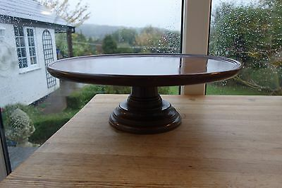 Antique Mahogany Large 19 Inch Diameter Top  Lazy Susan