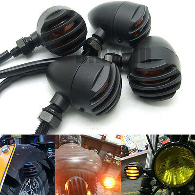 4x Universal Motorcycle Turn Signal Indicator Lights Blinker For Harley Yamaha