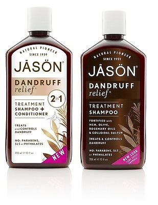 Jason Natural 2 in 1 Anti Dandruff Shampoo Relief Calming Hair Care Product UK