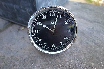 Vintage Ac Car Clock For Spares Or Repair