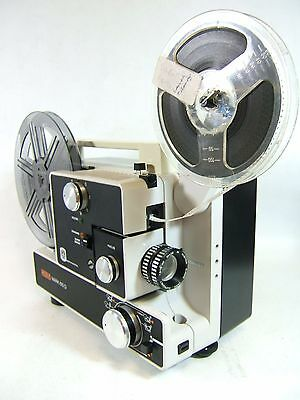EUMIG 610D Super 8 CINE PROJECTOR Std 8mm Movie film Boxed Excellent Tested 100%