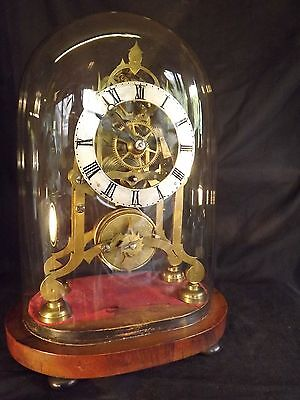 19c Fusee Skeleton Clock Of Small Proportions.