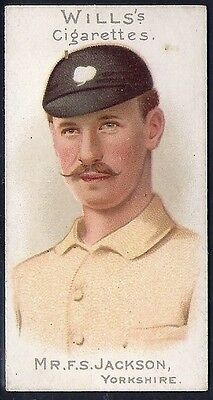 Wills-Cricket Ers Series 1901 (With Vignette)-#09- Yorkshire - Jackson
