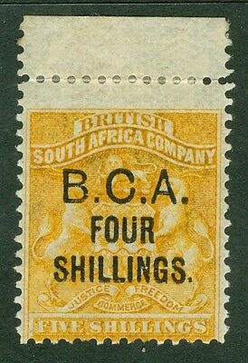 SG 19 British Central Africa 4/- on 5/- orange yellow. A pristine very lightly..