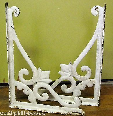 "OLD ANTIQUE/VINTAGE CAST IRON SINK BRACKETS FOR RETRO HOME 19.5"" x 14.5"" HEAVY"