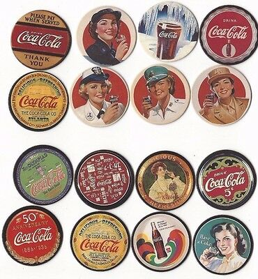 Coca Cola Pogs Series 1 And  Series 2 Set *new* 1-8 Pogs Slammer
