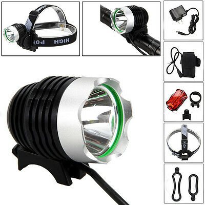 5000Lm CREE XML T6 LED Bicycle Lamp Bike Head Rechargeable Headlight+ Rear light