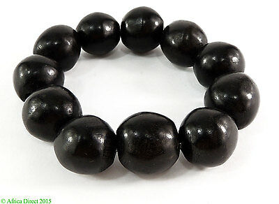 Ebony Wood Beads Bracelet Mali Africa SALE WAS $24.95