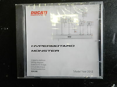 Ducati Hyper Motard and Monster Wiring Diagrams MY 2012 Part No 91471151A