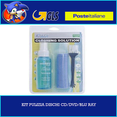 Kit Pulizia Lcd Monitor Tv Plasma Notebook Cd Dvd Antistatico Panno Cleaning