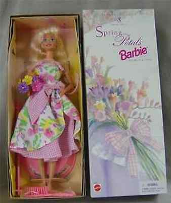 New! Spring Petals Blonde Barbie Doll 2Nd In An Avon Series!