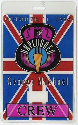 George Michael Crew 1996 Laminated Backstage Pass