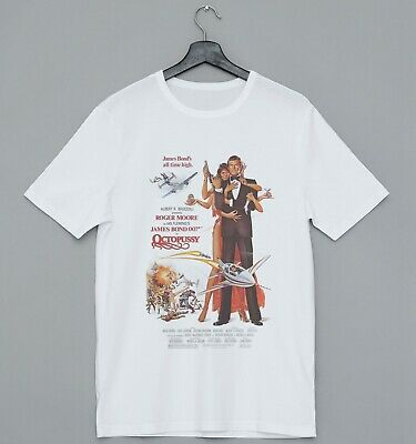 James Bond 007 Octopussy Movie Poster Ideal Gift Short Sleeve Mens T Shirt 2137