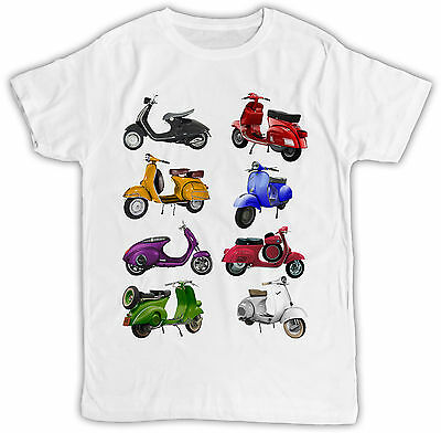 Vespa Scooters Ideal Gift Retro Vintage Cool Designer, Short Sleeve Mens T Shirt