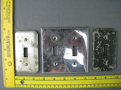 3-Vintage Metal Light Switch Covers