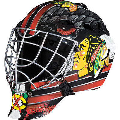 Franklin Sports GFM 1500 NHL Chicago Blackhawks Goalie Face Mask