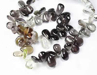 Natural Chrysoberyl Cat's Eye Multi Color 8*5Mm Pear Shape Briolettes 89Ct. 8.5""