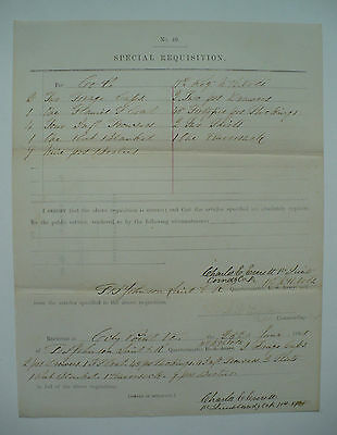 N.h. Volunteers 11Th Regiment Company K Civil War Special Requistion Document