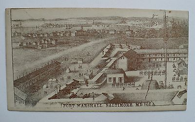 Civil War Envelope Pictorial Fort Marshall Baltimore Maryland