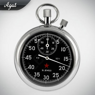 AGAT Russian mechanical addition stop watch Shock protection Shock protection